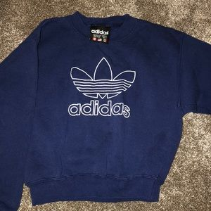 Kid's adidas navy crewneck